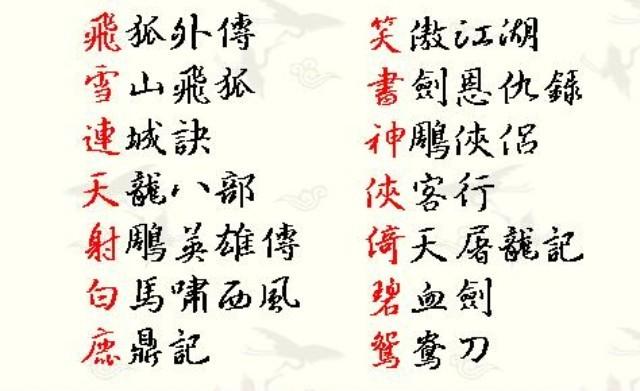 【易经八卦】金庸英雄谱之姓名分析,你所不知道的姓名寓意
